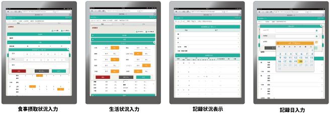 介護情報総合記録シート入力イメージ