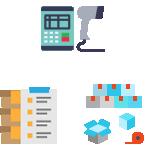 ハンディターミナルとバーコードを利用した秤量データ連携