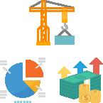 建設業の業務の流れに沿った処理を実現