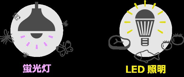 紫外線の発生が少ないLED照明